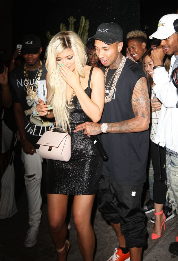 Tyga-Gifts-Kylie-Jenner-with-a-Brand-New-Ferrari-at-Bootsy-Bellows-for-her-18th-birthday-2